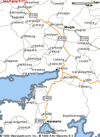 map showing the location of Gokova